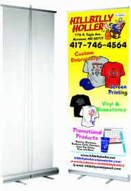 promotional free standing signs, banners, posters